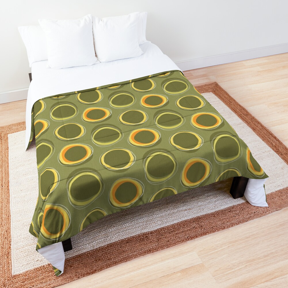 Solar Eclipse MCM Green Comforter