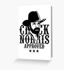 chuck norris Greeting Card