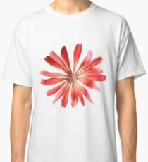 Red Pink Flower Petals Classic T-Shirt