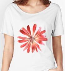 Red Pink Flower Petals Women's Relaxed Fit T-Shirt
