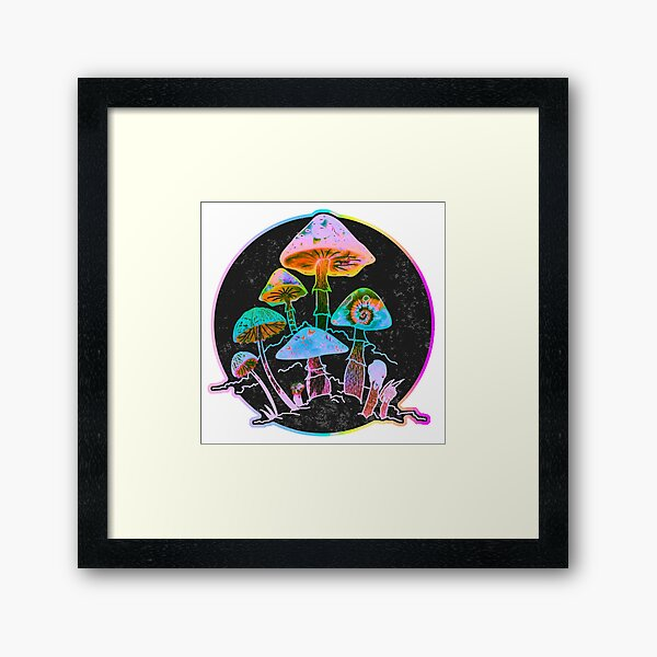 Garden of Shrooms 2020 Framed Art Print