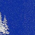 Snow and Christmas Tree by algoldesigns