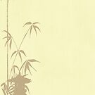 Bamboo and Japanese Lantern by algoldesigns