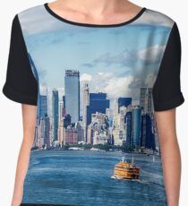 New York and Staten Island Ferry Chiffon Top