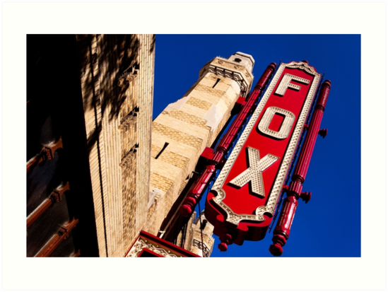 Fabulous Fox Theatre Marquee - Atlanta Landmark Art by Mark Tisdale