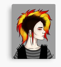 Punky Lady Canvas Print