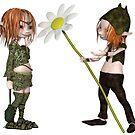 Goblin Valentine's Day Flower by algoldesigns