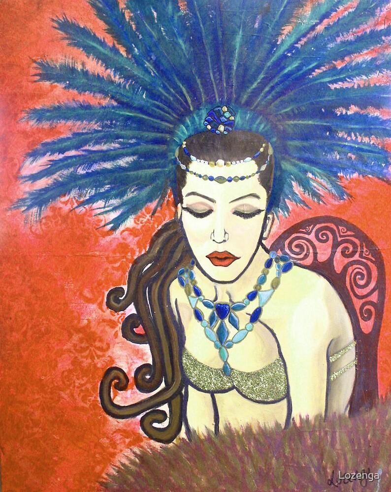 Burlesque 1 in orange by Lozenga