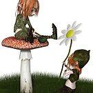 Goblin Valentine's Day Flower Gift by algoldesigns