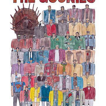 The Goonies Team Illustration  by defuma