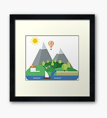 Landscape Mountains Framed Print