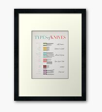 Types of Knives Infographic Framed Print
