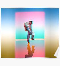 Retro Space Man Poster