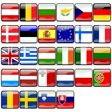 European Flags, Button Flags, EU, Europe by TOMSREDBUBBLE