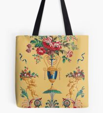 Golden Flower French Wallcover Tote Bag
