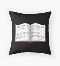 More You Read Quote Design Throw Pillow