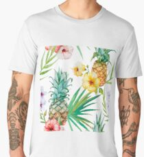 Tropical Fruit - Pinapple Men's Premium T-Shirt