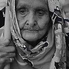 Old Woman Portrait by Mubasher Kaleem