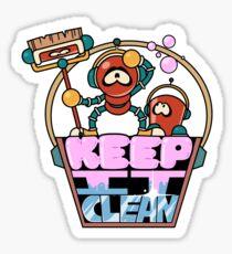 """Robot buddies Janitors """"Keep It Clean"""" Sticker"""