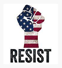 Resist Anti Trump Pro America Freedom Photographic Print