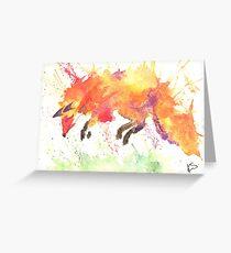 Watercolour Fox Greeting Card