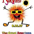 Funny I Survived The Great American Solar Eclipse by IconicTee