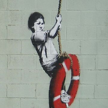 BANKSY, Graffiti Artist, Street Artist, Swinger, in New Orleans by TOMSREDBUBBLE