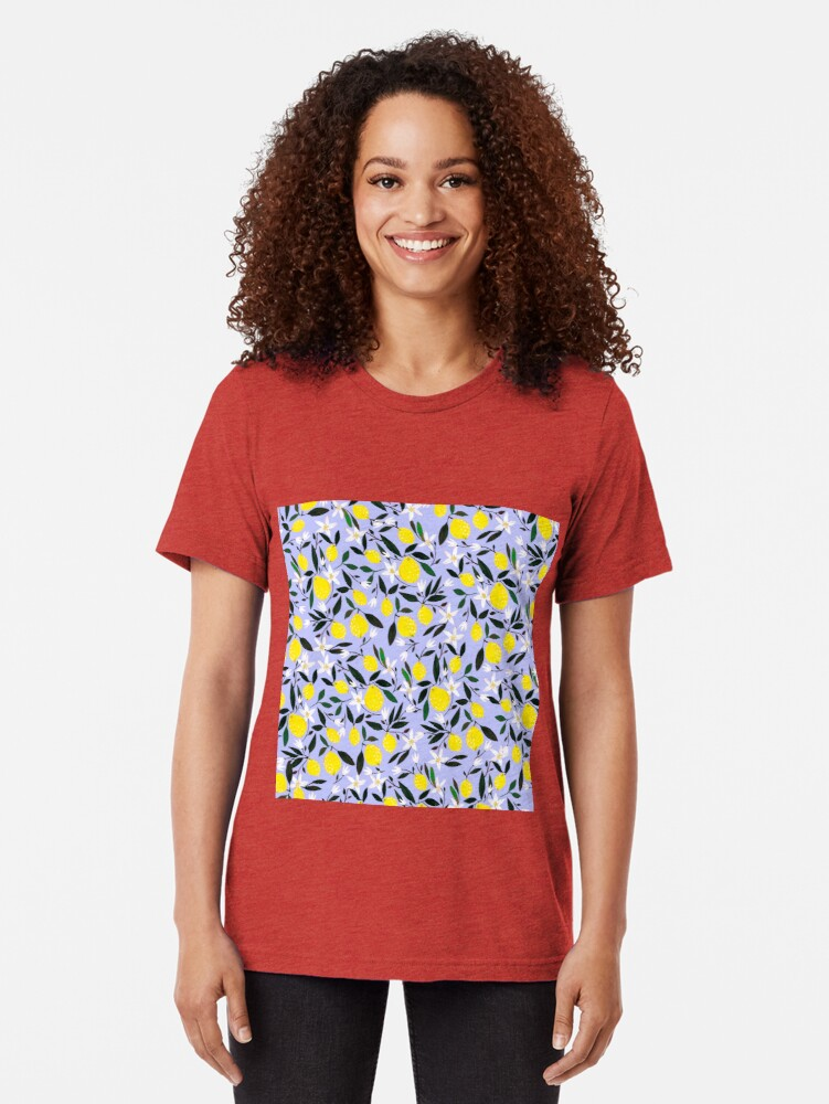 Alternate view of Lemons Blue Tri-blend T-Shirt