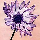 Sue's White and Purple Flower by Anne Gitto