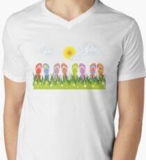 Flip Flops Having Fun In The Sun Men's V-Neck T-Shirt