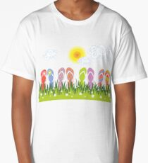 Flip Flops Having Fun In The Sun Long T-Shirt