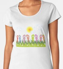 Flip Flops Having Fun In The Sun Women's Premium T-Shirt