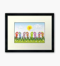 Flip Flops Having Fun In The Sun Framed Print