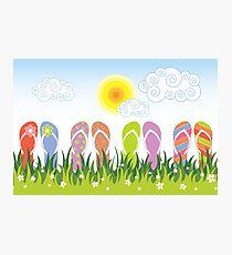 Flip Flops Having Fun In The Sun Photographic Print