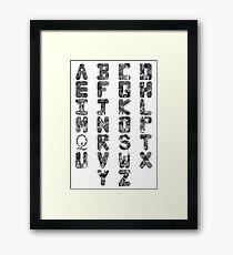 A-Z Alphabet Framed Print