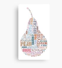 Pear in different languages Canvas Print