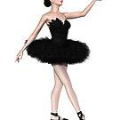 Black Swan Ballerina from Swan Lake by algoldesigns