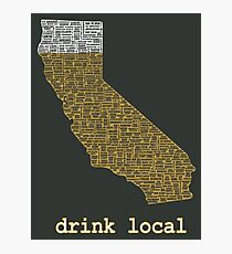 Drink Local - California Beer T-shirt Photographic Print