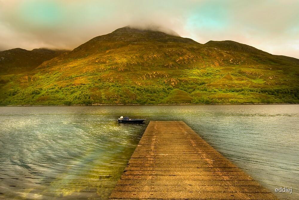 Jetty on loch Leven by eddiej