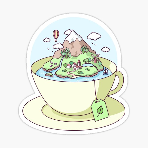 Tea Island Sticker