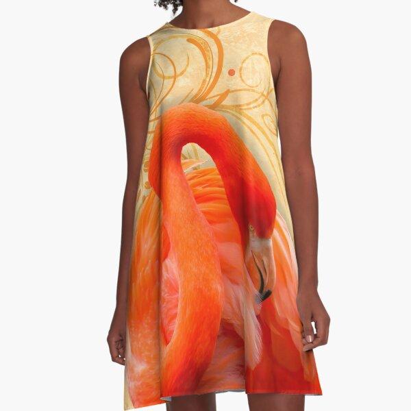 A Flamingo at Rest A-Line Dress
