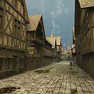 Deserted Mediaeval Street Scene by algoldesigns