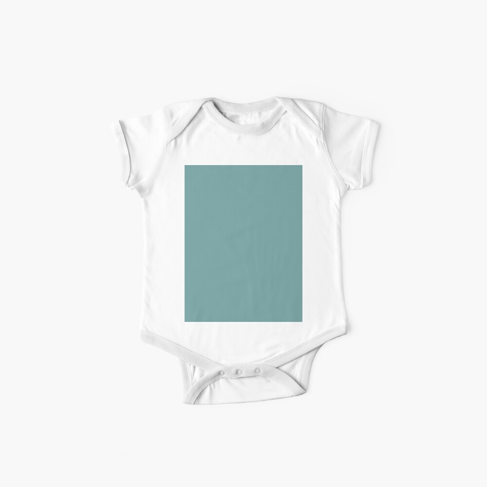 Solid Colour | Desaturated Cyan | Blue |Aqua Baby One-Piece