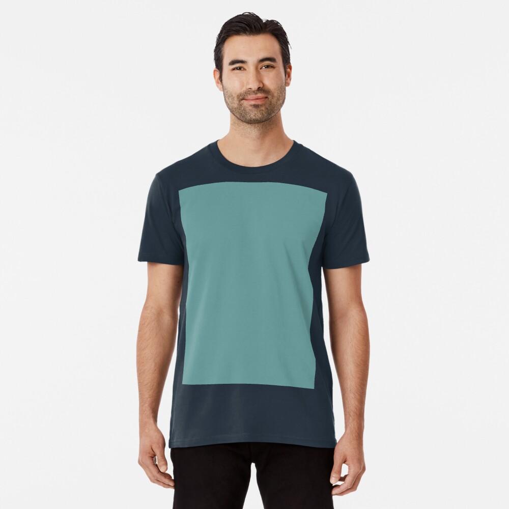 Solid Colour | Desaturated Cyan | Blue |Aqua Premium T-Shirt
