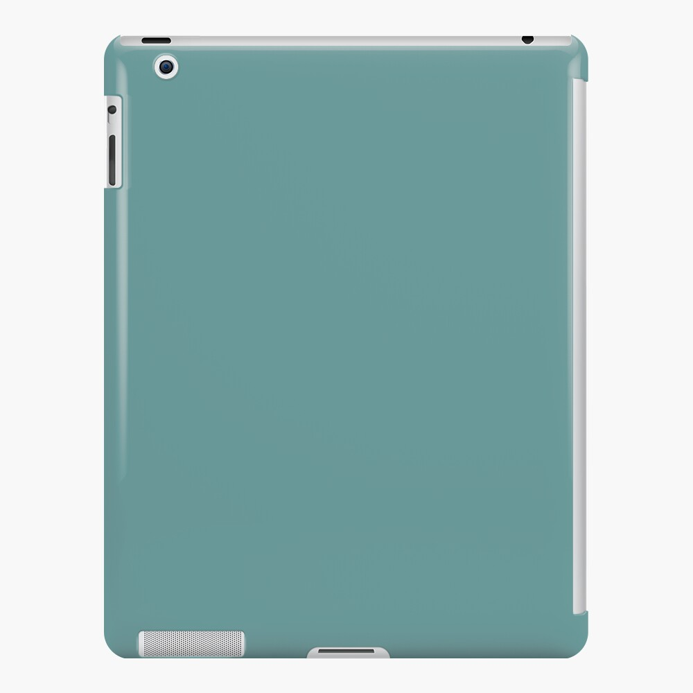 Solid Colour | Desaturated Cyan | Blue |Aqua iPad Case & Skin