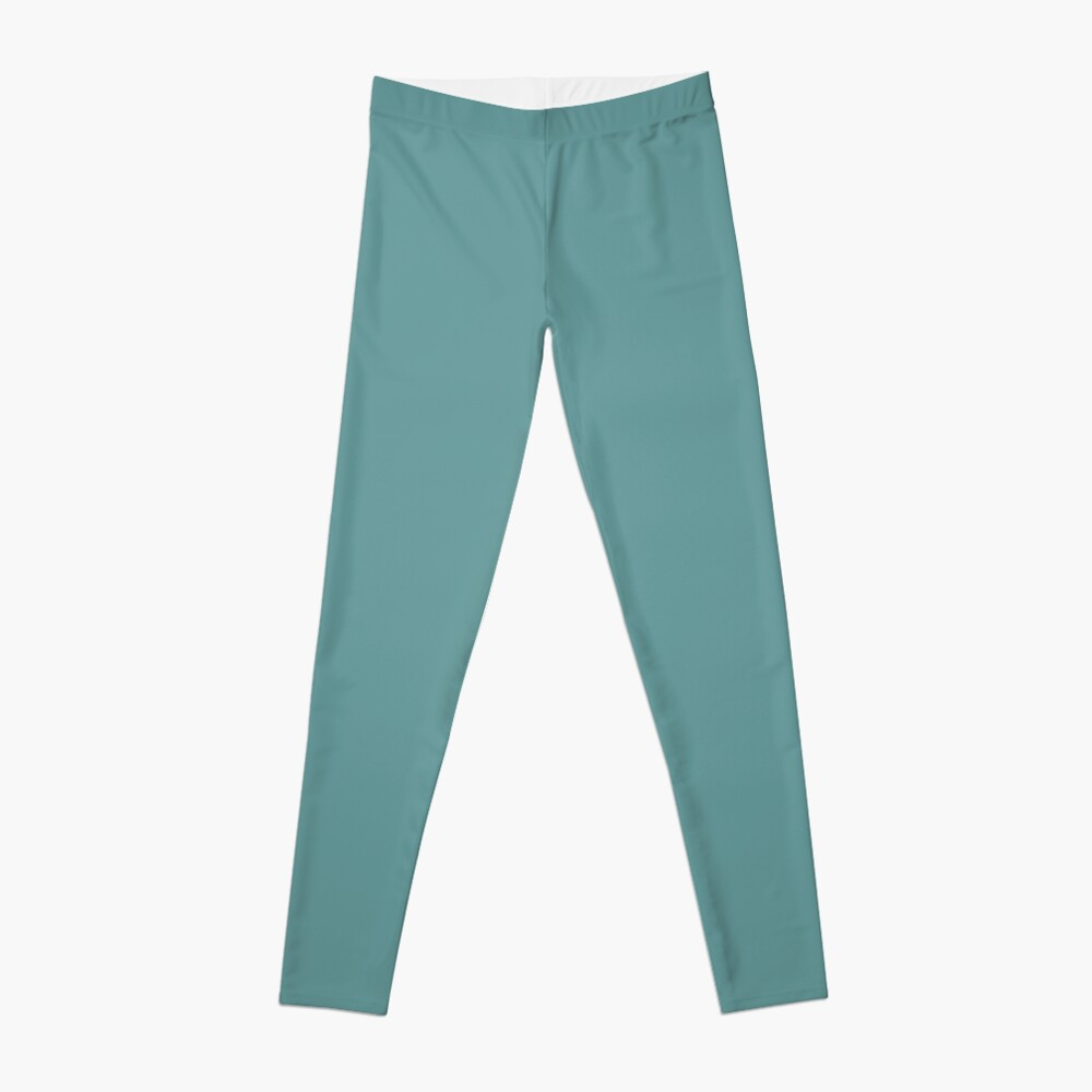 Solid Colour | Desaturated Cyan | Blue |Aqua Leggings
