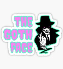 The Goth Face Sticker