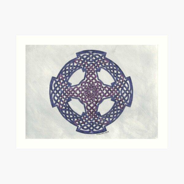purple wheeled cross Art Print