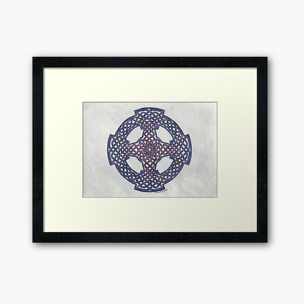 purple wheeled cross Framed Art Print
