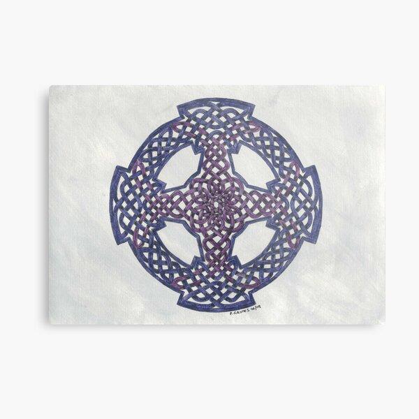 purple wheeled cross Metal Print